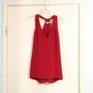 Banana Republic Red Racerback Flowy Tank Blouse